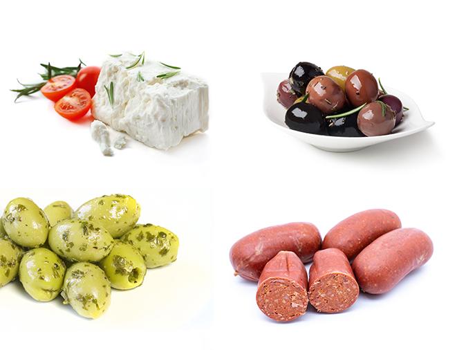 Supermarkt Marmaris verkoopt ook veel islamitische en mediterrane delicatessen, waaronder diverse soorten kaas, olijven en gedroogde worst.